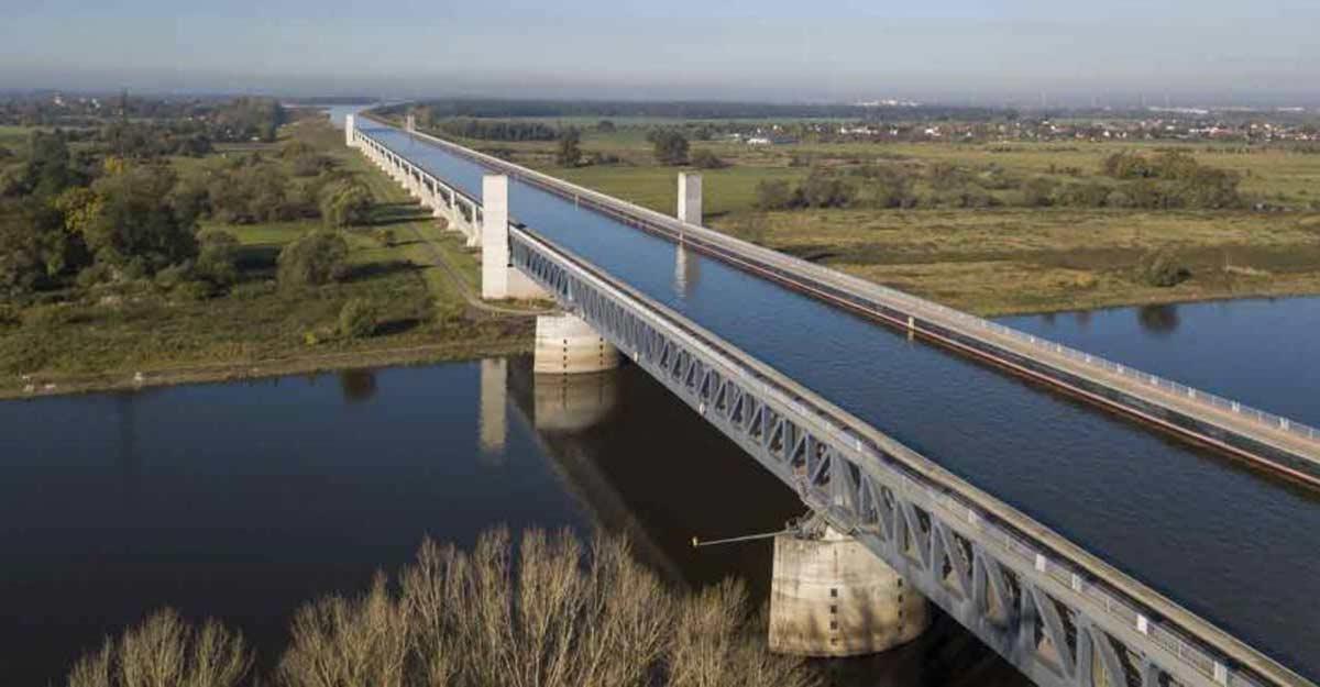 The unbelievable Magdeburg water bridge in Germany