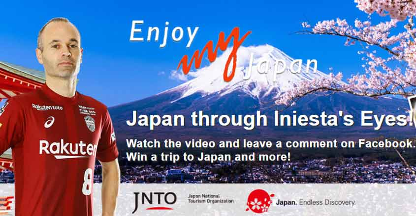 Andrés Iniesta stars in new Japanese tourism campaign