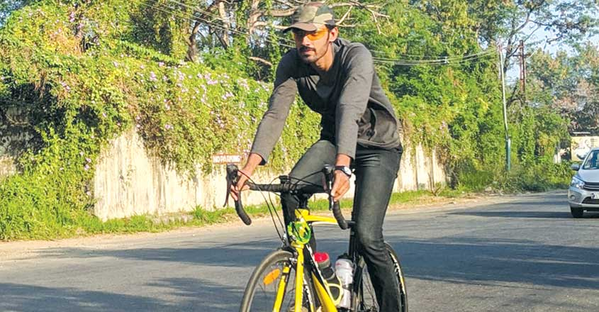 Youth cycles all the way to Vagamon to spread awareness