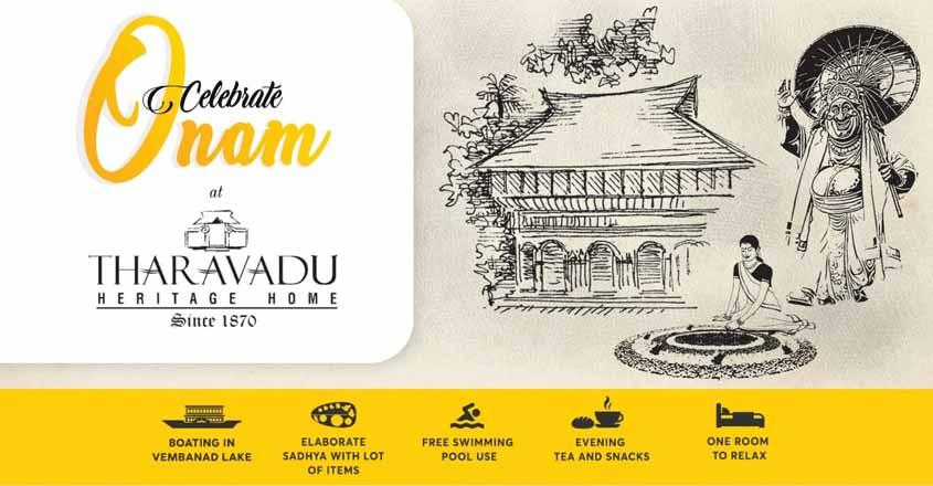A package to celebrate Onam in Kumarakom at Rs 850 per head