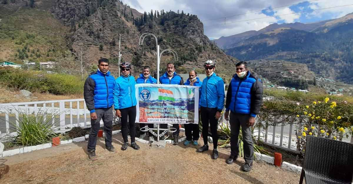 This army officer, fellow set record after pedalling across Himalayas