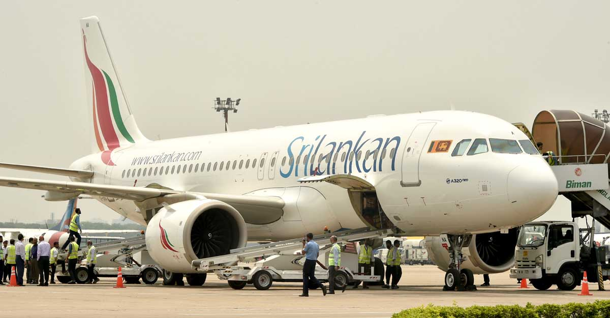 DHAKA, April 24, 2019 (Xinhua) -- Photo taken on April 24, 2019 shows a SriLankan Airlines flight carrying the body of a Bangladeshi child who was killed in the attacks in Sri Lanka, at Hazrat Shahjalal International Airport in Dhaka, Bangladesh. (Xinhua/Stringer/IANS)