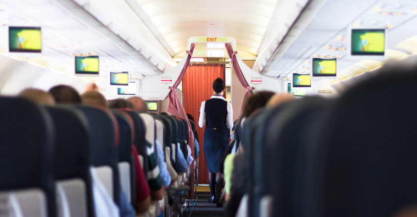 airlines passengers on a flight
