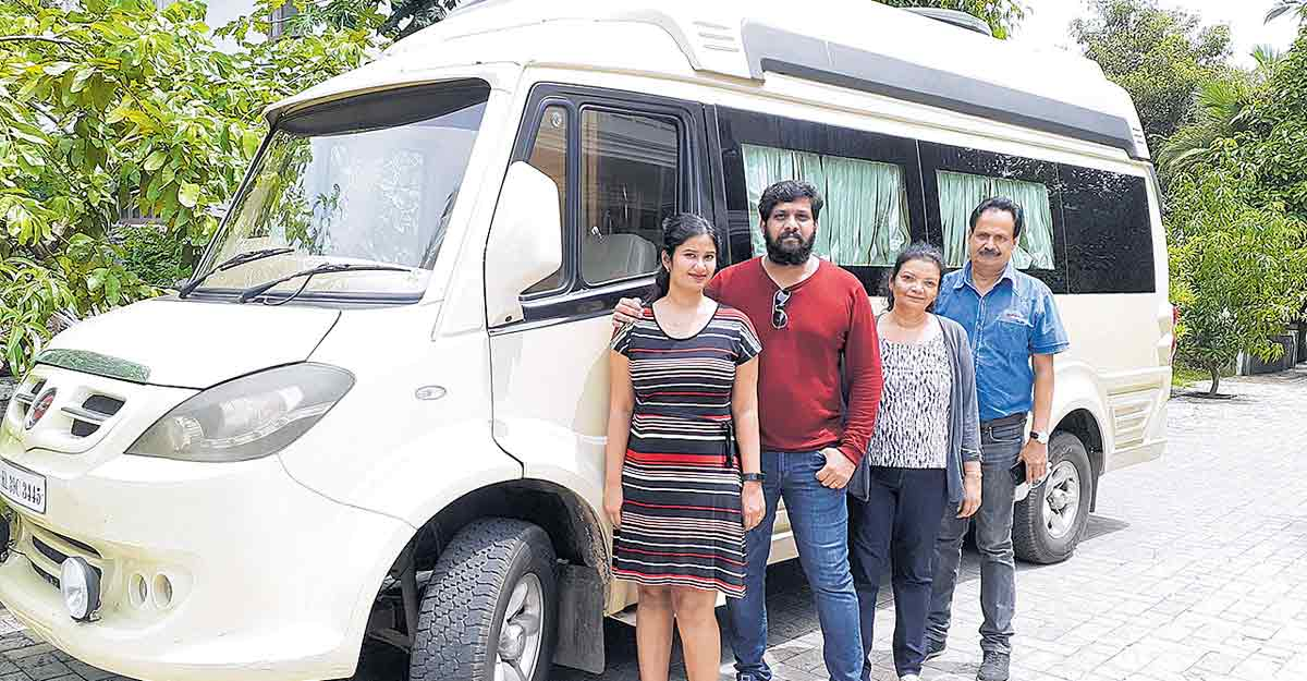 This man took a 4,000-km trip in a caravan to bring pregnant wife to Kerala