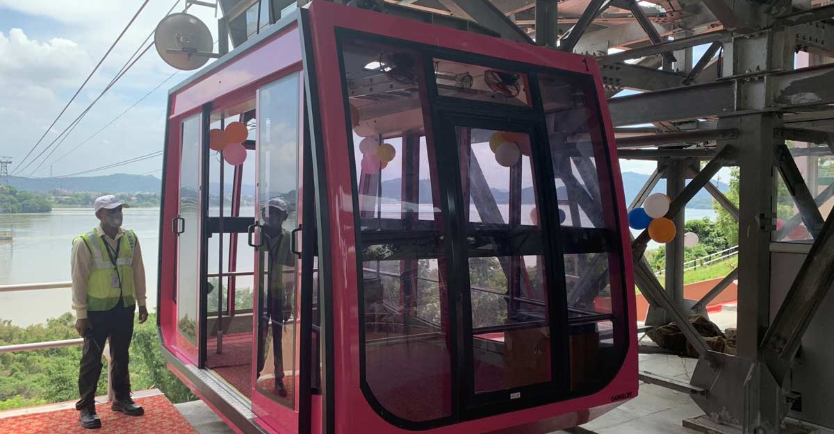 India's longest river ropeway service launched in Guwahati. (Photo: twitter@himantabiswa)