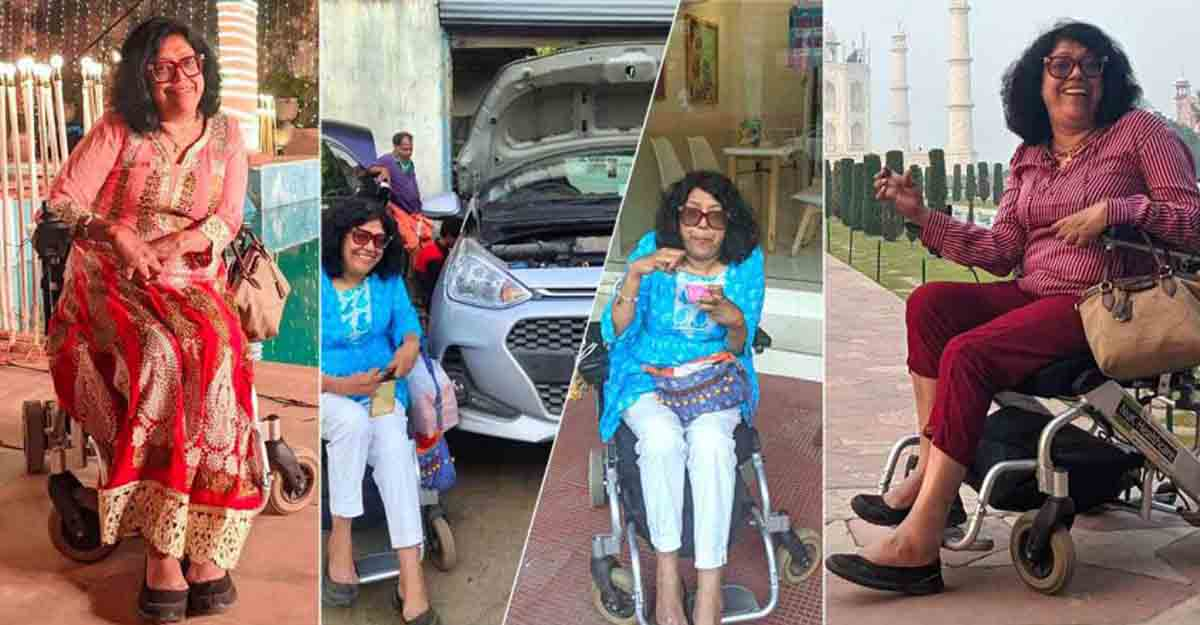 Wheelchair-bound Indian woman travels to 58 countries