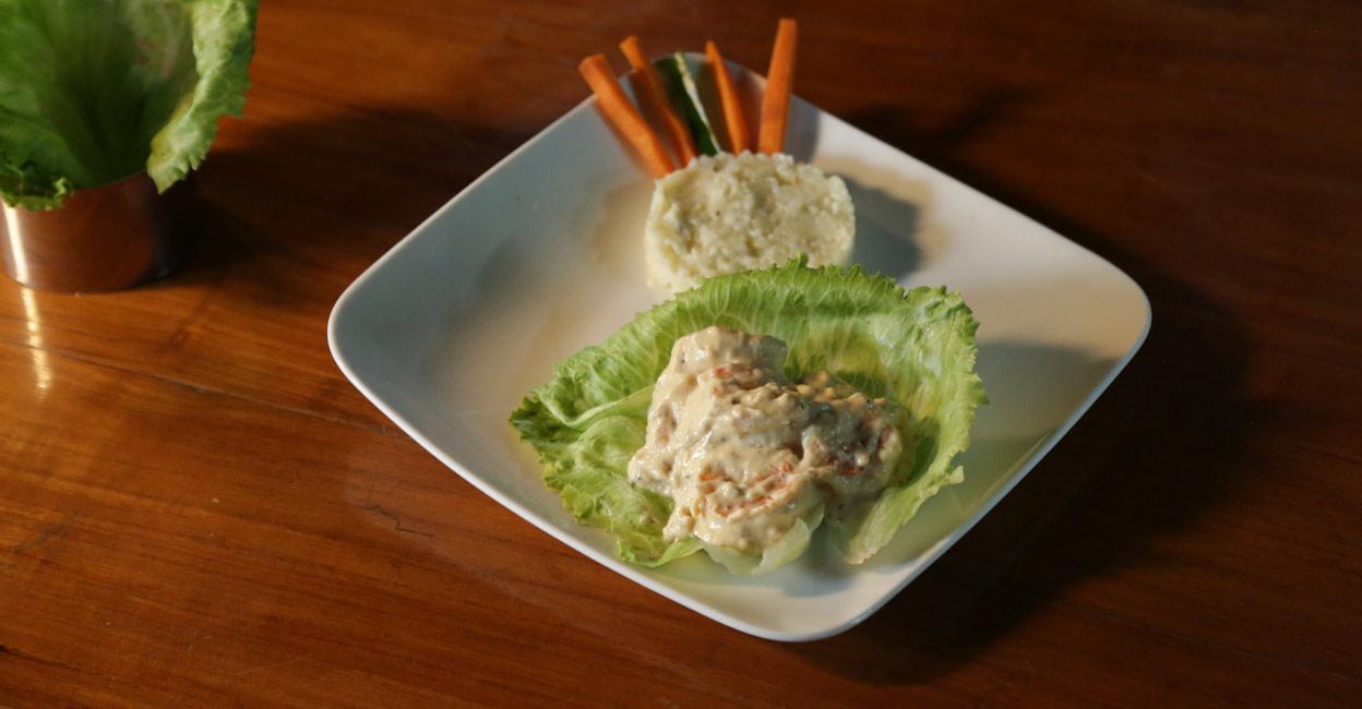 Creamy butter garlic prawns