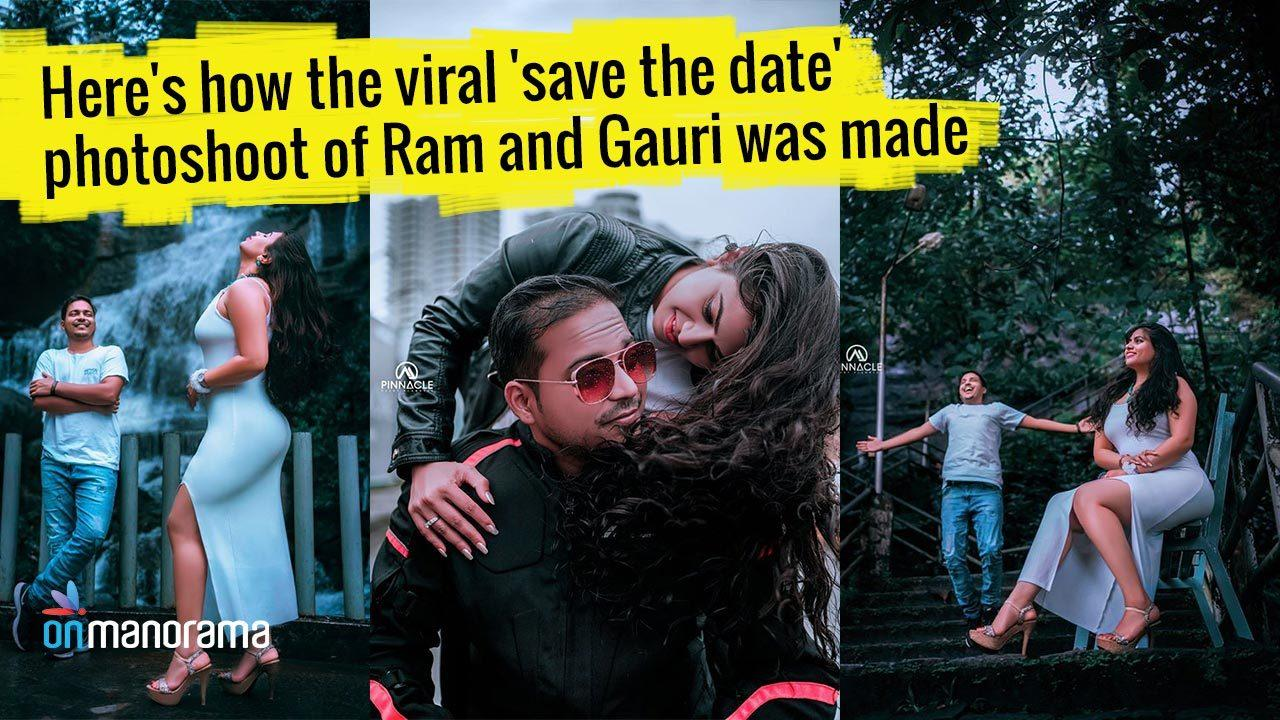 Here's how the viral 'save the date' photoshoot of Ram and Gauri was made