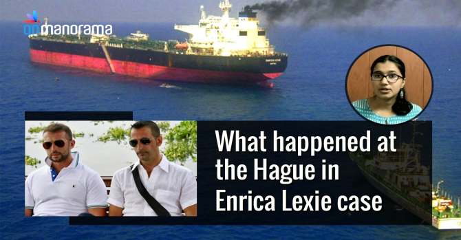 What happened at the Hague in Enrica Lexie case