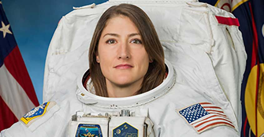 Christina Koch breaks women's record for longest spaceflight
