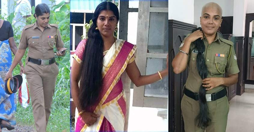 Gold bangles then, lock of hair now: This Thrissur lady cop is an epitome of humanity