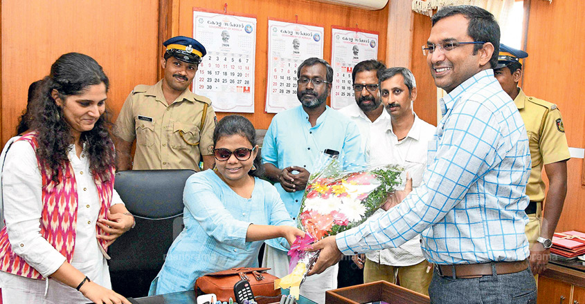 India's first visually challenged woman IAS officer takes over as TVPM sub-collector