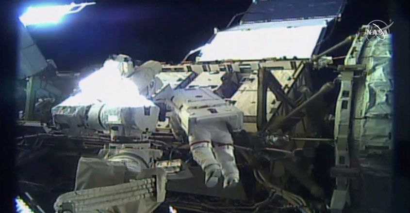 US astronauts create history with all-woman spacewalk
