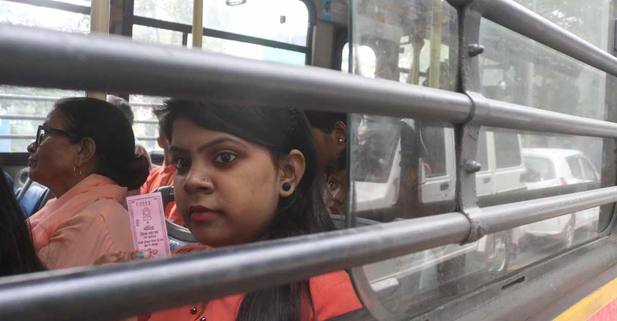 Free bus ride scheme for women begins in Delhi