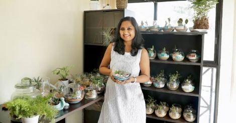 Lakshmi pulls off a rare business and promotes love for plants alongside