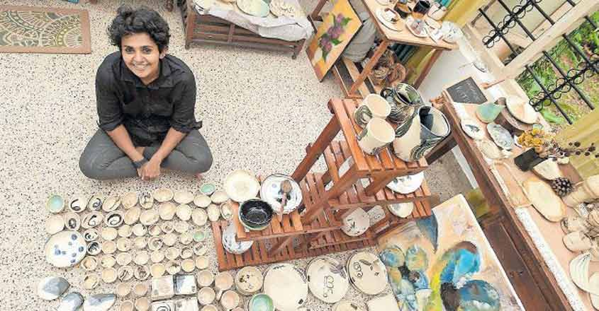 Passion for designing pottery items earns Anu rich rewards